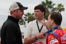 Clint Bowyer, Michael Waltrip, Rob Kauffman