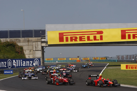 Hungaroring GP2 start 2012