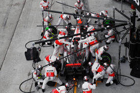 Pitstops were a McLaren weakness early in 2012
