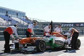 Paul di Resta, Jerez F1 testing