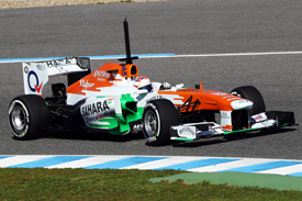 Paul di Resta Force India 2013 F1 test Jerez