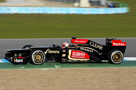Romain Grosjean, Lotus, Jerez testing February 2013