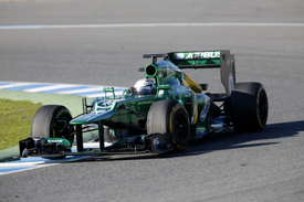 Giedo van der Garde, Caterham, Jerez F1 testing 2013
