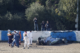 Lewis Hamilton crash, Jerez February 2013