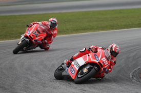 Nicky Hayden and Andrea Dovizioso, Ducati, Sepang MotoGP testing February 2013