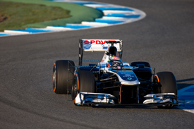 Pastor Maldonado, Williams, Jerez F1 testing, February 2013
