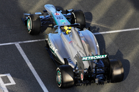 Nico Rosberg, Jerez F1 testing