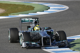 Nico Rosberg, Mercedes, Jerez F1 test, February 2013