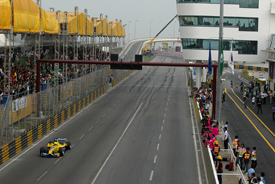 A Jordan F1 car in Macau