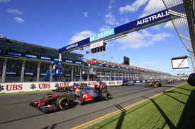 Melbourne Formula 1 start 2012