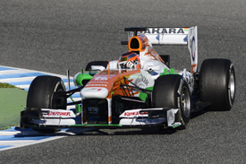 Jules Bianchi, Force India, Jerez F1 testing, February 2013