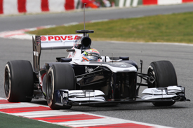 Williams Pastor Maldonado F1 test Barcelona 2013