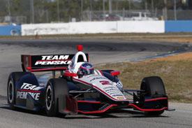 AJ Allmendinger, Penske, Sebring IndyCar testing February 2013