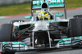 Nico Rosberg F1 2013 Testing