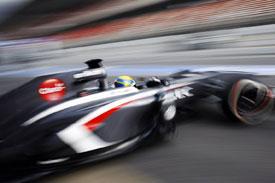 Esteban Gutierrez Sauber F1 2013 Testing