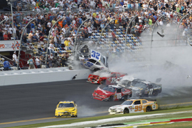 Kyle Larson crash, Daytona NASCAR Nationwide 2013