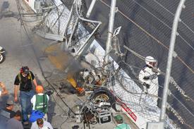 Fence damage at Daytona