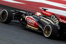 Romain Grosjean, Lotus, Barcelona F1 testing February 2013