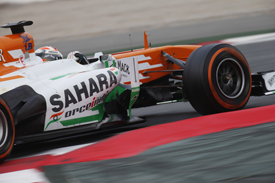 Adrian Sutil, Force India, Barcelona F1 testing, February 2013