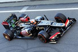 Romain Grosjean, Lotus, Barcelona F1 testing February 2013