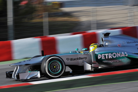Nico Rosberg, Mercedes, Barcelona F1 test, February 2013