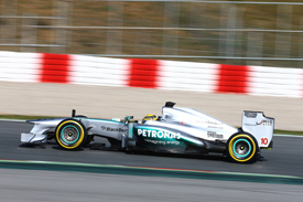 Lewis Hamilton, Mercedes, Barcelona F1 testing February 2013
