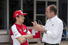 Nicky Hayden and Bernhard Gobmeier