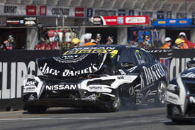 Todd Kelly's damaged Nissan, Adelaide V8 Supercars 2013