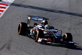 Esteban Gutierrez, Sauber, Barcelona F1 testing