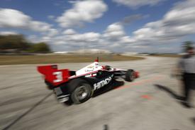 Helio Castroneves, Penske, Sebring IndyCar testing February 2013