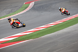 Marc Marquez and Dani Pedrosa, Honda, Austin MotoGP test March 2013