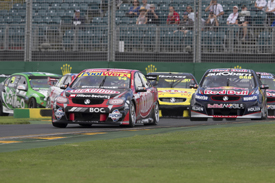 Fabian Coulthard leads Melbourne V8 race 2013