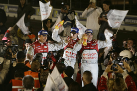 Benoit Treluyer, Marcel Fassler, Oliver Jarvis win Sebring 12 Hours for Audi