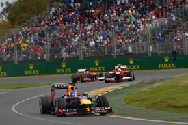 Sebastian Vettel leads in Melbourne