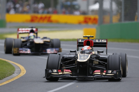 Romain Grosjean, Lotus, Melbourne 2013