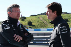 Toto Wolff Ross Brawn Mercedes
