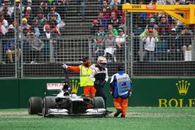 Pastor Maldonado crashes out in Australia 2013
