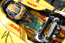 Ryan Hunter-Reay Andretti Dallara IndyCar Barber test 2013