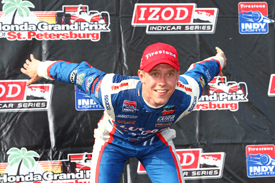 Jack Hawksworth wins St Petersburg Indy Lights race