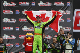 James Hinchcliffe wins St Petersburg IndyCar race, 2013