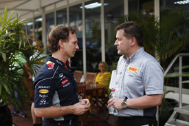 Christian Horner and Paul Hembery