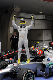 Nico Rosberg wins the 2012 Chinese GP for Mercedes