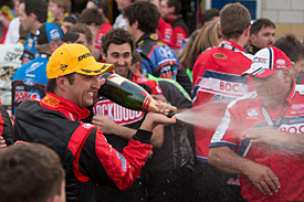 Coulthard snatches race-three victory