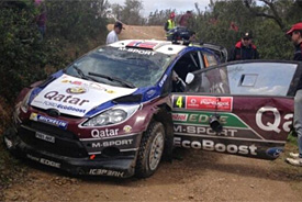 Ostberg crashes from Portugal lead