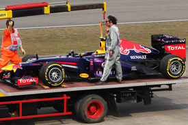 Mark Webber's Red Bull on a truck, Chinese GP 2013, Shanghai