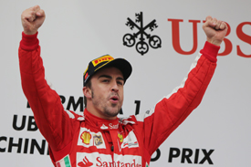 Fernando Alonso wins the Chinese GP, Shanghai 2013