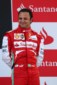 Felipe Massa on the Spanish GP podium