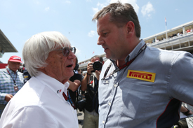 Bernie Ecclestone and Paul Hembery