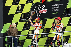 Le Mans MotoGP podium