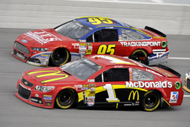 Scott Speed and Jamie McMurray, Talladega NASCAR 2013